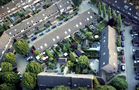 Amersfoort van boven, Olympus Trip 35 met Lomography X-pro Chrome 100.